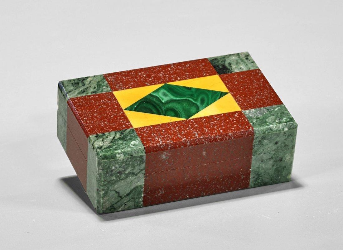 Fine Italian Multi-Mineral Mosaic Box