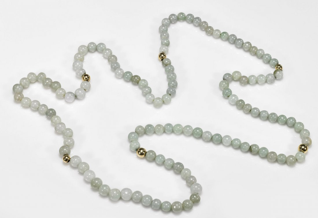 Ladies' Chinese Jadeite Beaded Rope Necklace