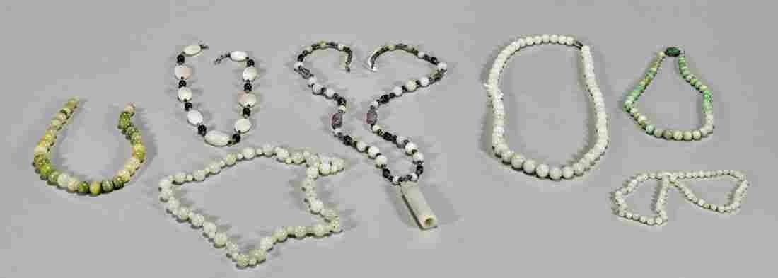 Eight Various Beaded Jewelry Items