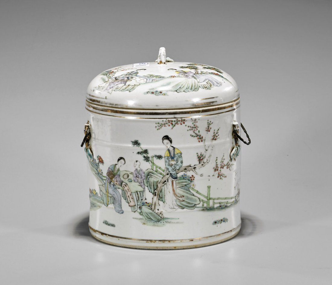 Antique Chinese Porcelain Covered Pot