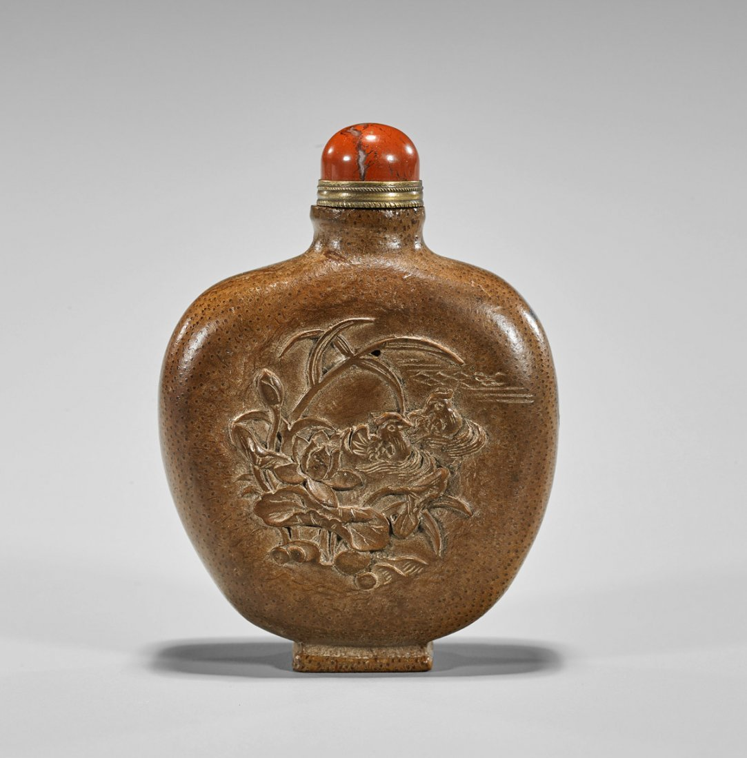 Chinese Carved Bamboo Snuff Bottle