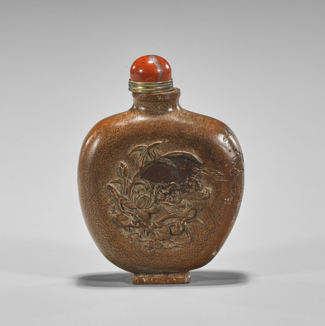 Chinese Carved Bamboo Snuff Bottle - 2