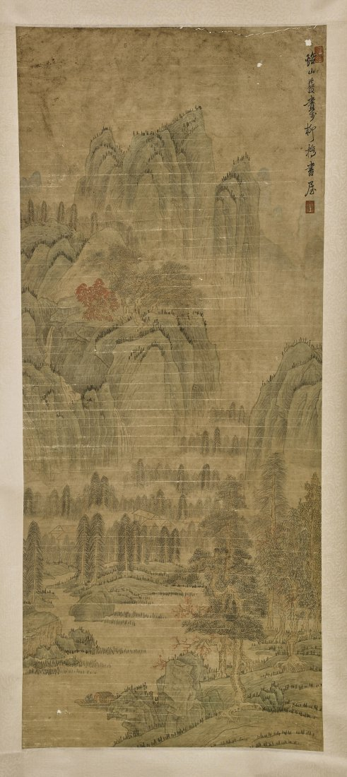Two Chinese Paper Scrolls After Chen Honghuan