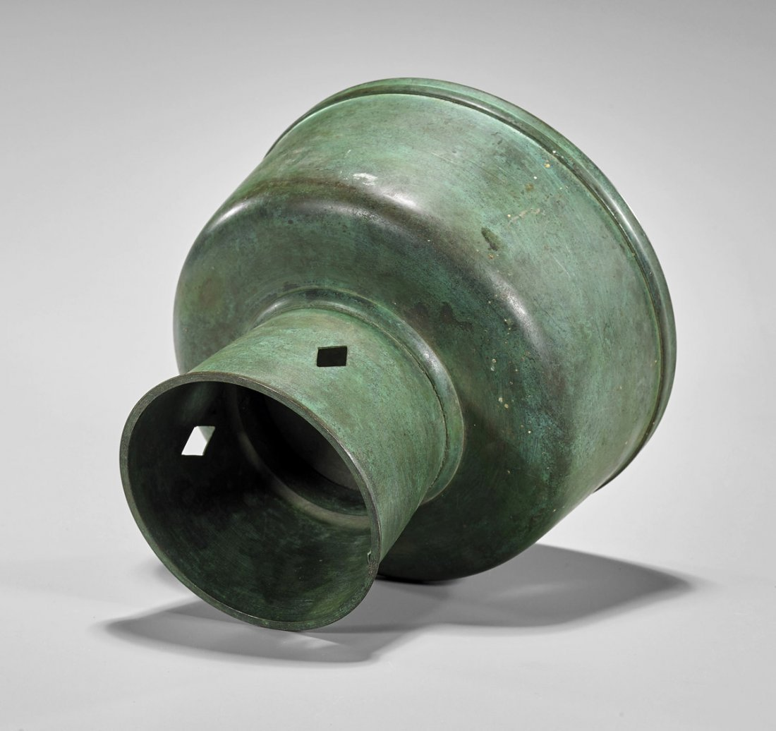 Antique Korean Bronze Cremation Urn - 2