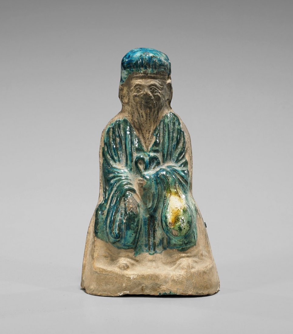 Ming Dynasty Turquoise Glazed Immortal