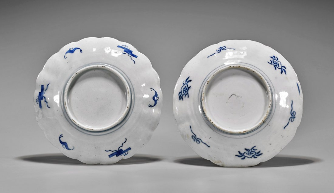 Pair Antique Japanese Imari Porcelain Plates - 2