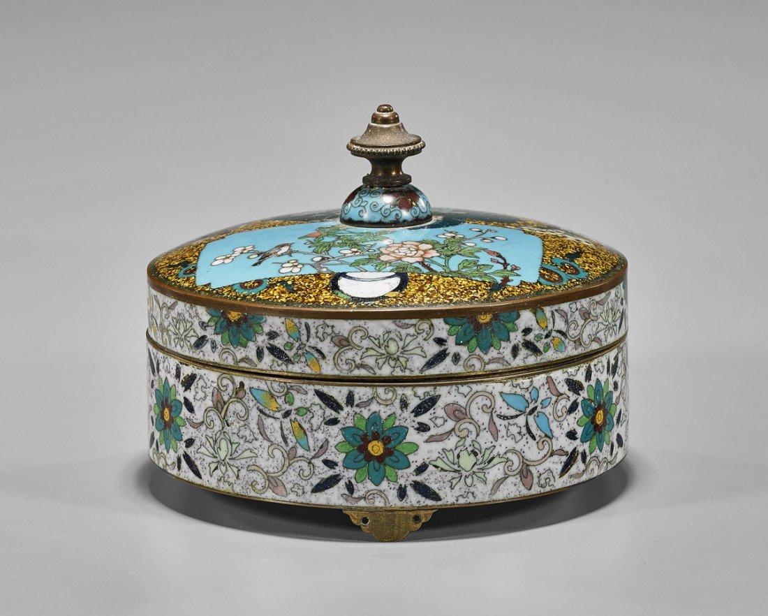 Antique Japanese Cloisonne Enamel Box