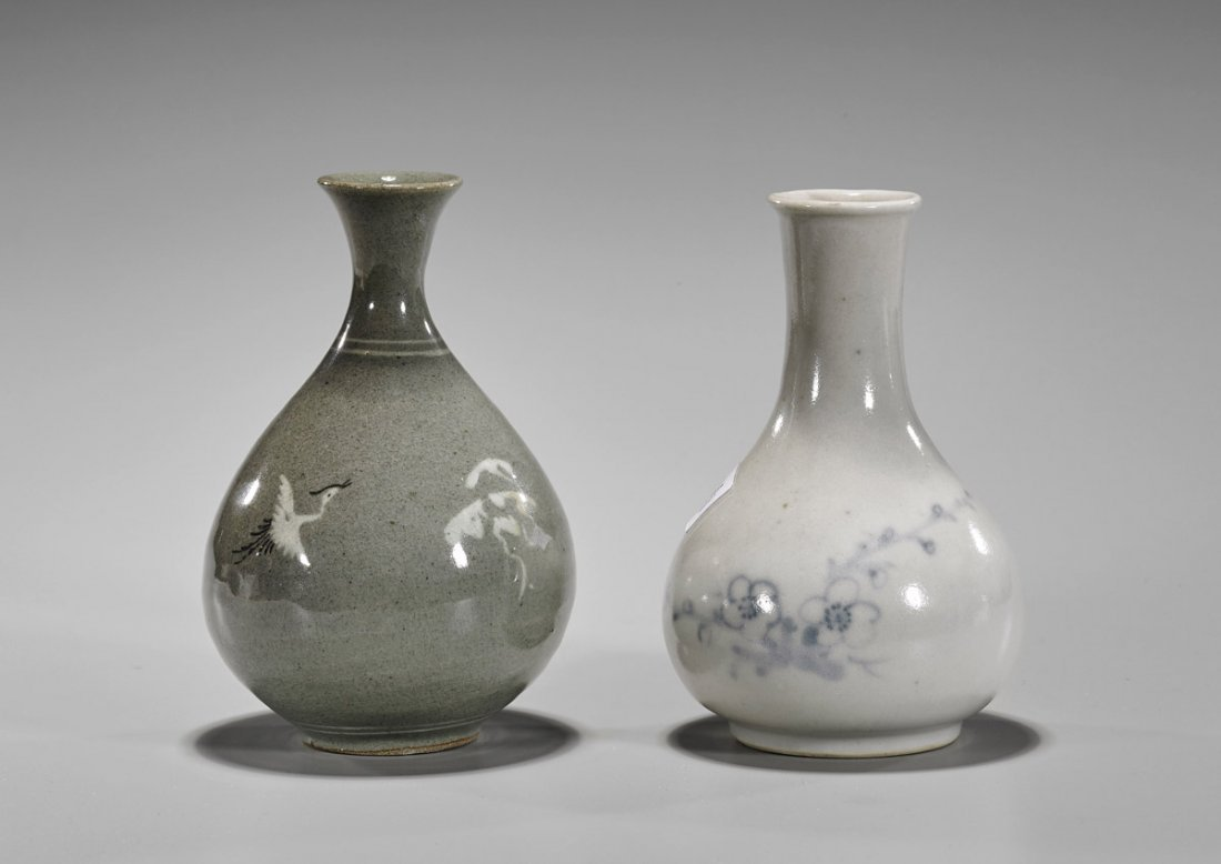 Two Old Korean Porcelain Vases