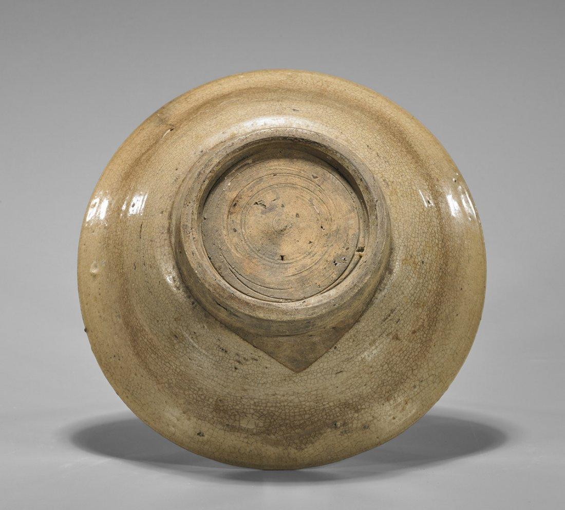 Yuan Dynasty Crackle Straw-Glazed Bowl - 2