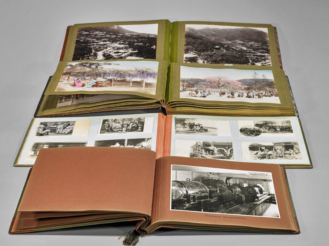 Four Antique Albums: Photographs & Postcards - 2