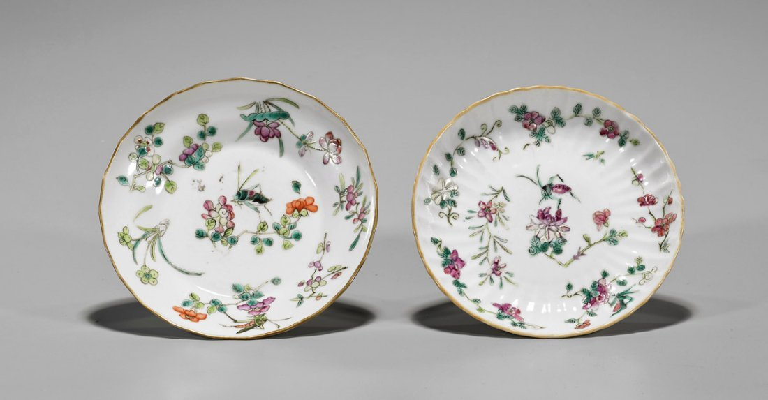 Two Tongzhi Famille Rose Porcelain Plates