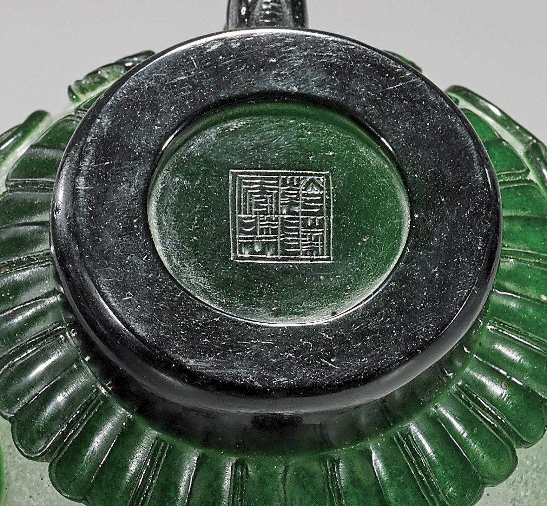 Beijing Green & Snowflake Glass Vase - 3