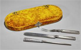Antique Tiffany & Co Silver Three-Piece Carving Set