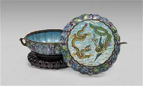 LARGE OLD CLOISONN ENAMEL BOX
