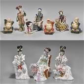 Ten Chinese & Chinoiserie Ceramic Figures