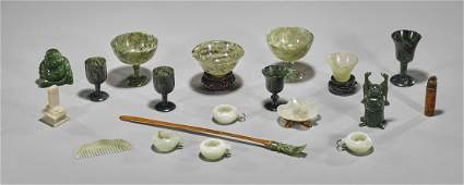 Collection of Chinese Jade  Hardstone Items