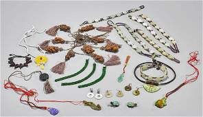 Large Group of Chinese Jewelry Items