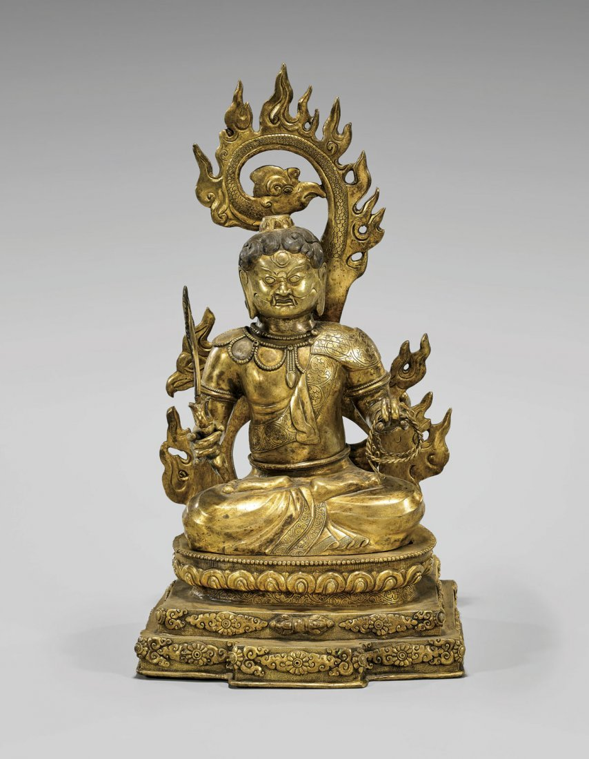 Sino-Tibetan Gilt Bronze Deity: Acala Buddha/Fudo Myo-O