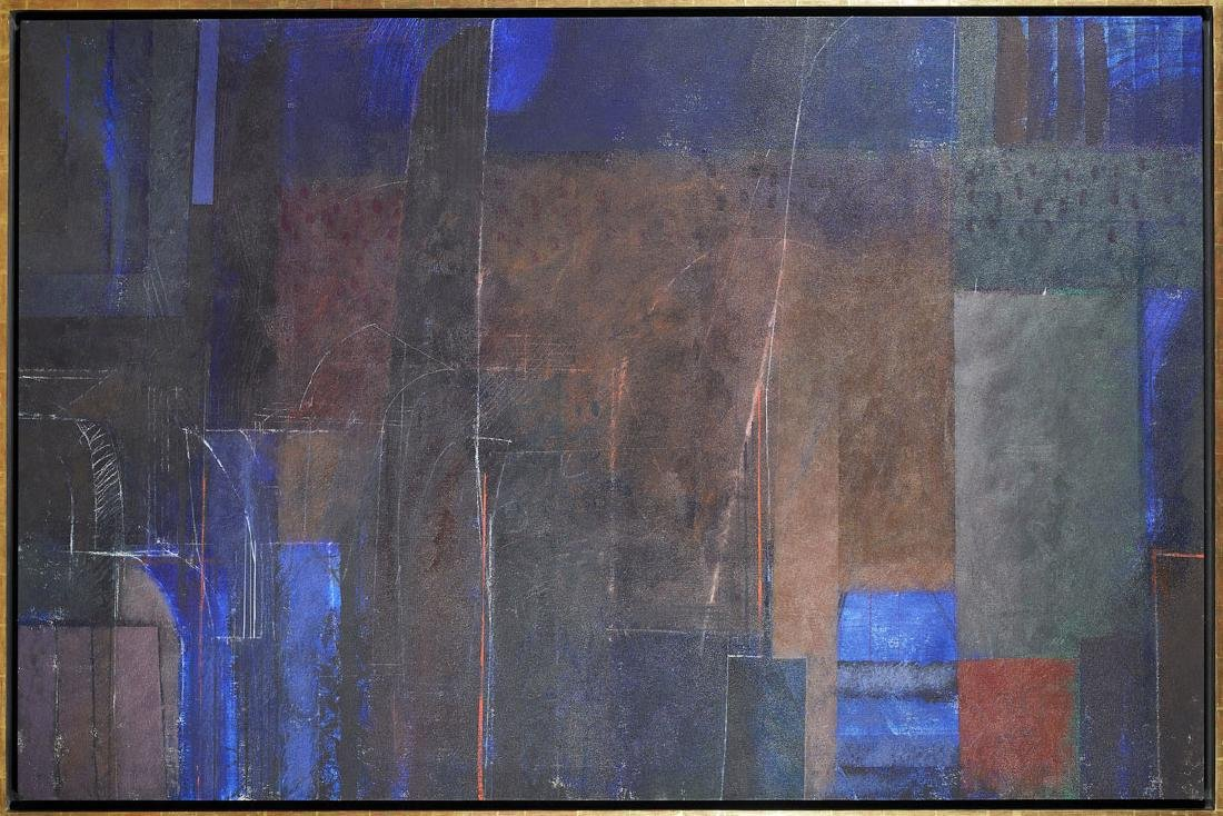 """Large Abstract Painting by Joseph Almyda: """"Small Gorge"""""""
