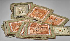 Collection of Old Chinese Embroidered Silk Textiles