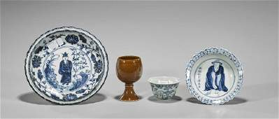 Four Ming-Style Porcelains