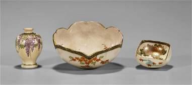 Three Pieces of Antique Japanese Satsuma