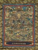 SINOTIBETAN PAINTED THANGKA