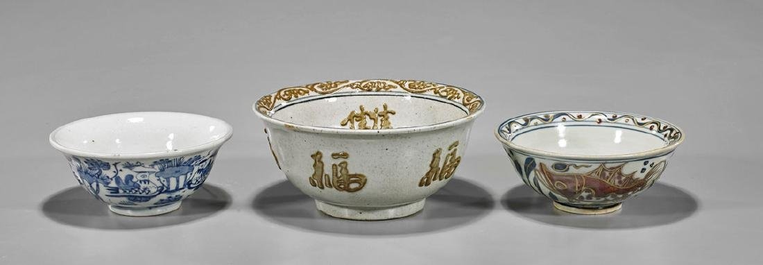 Three Ming-Style Porcelain Bowls