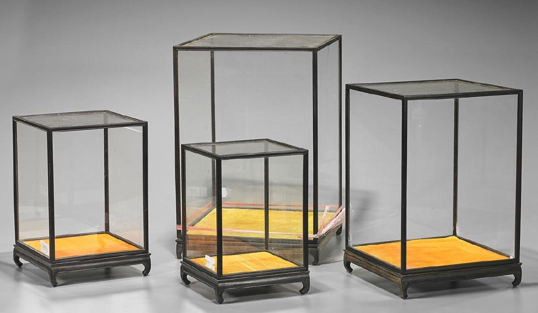 Set of Four Chinese Glass Display Cases