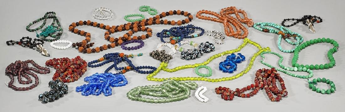 Collection of Chinese Bead Necklaces & Bracelets