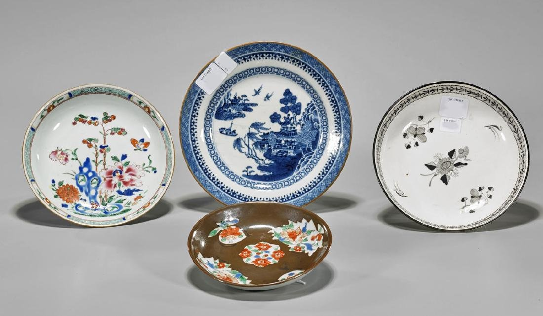 Four Antique Chinese Porcelain Dishes