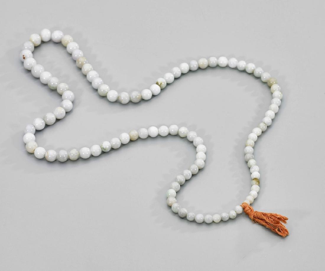 Old Jadeite Bead Necklace