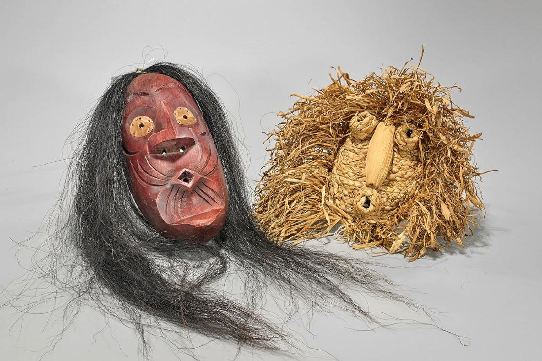 Two Iroquois Ceremonial Masks