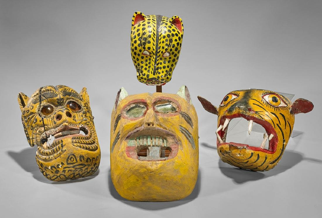 Group of Mexican 'Tigre' Dance Masks