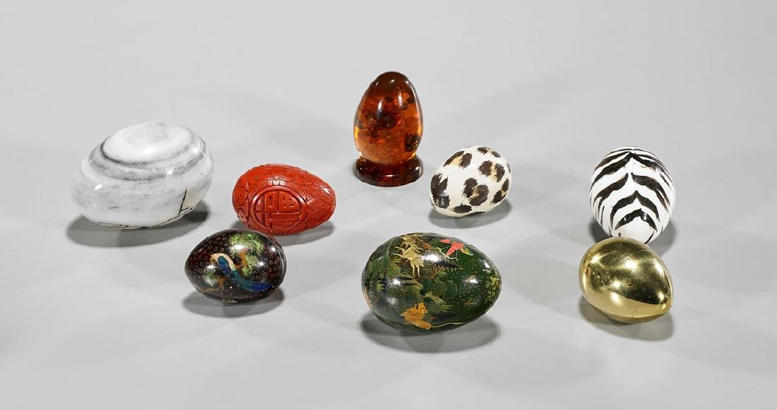 Group of Nine Various Eggs