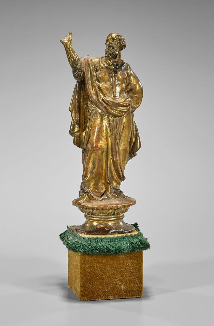 Antique Classical-Style Gilt Wood Figure: Plato