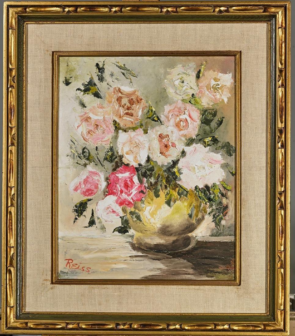 Four Various Paintings: Flowers & Girls