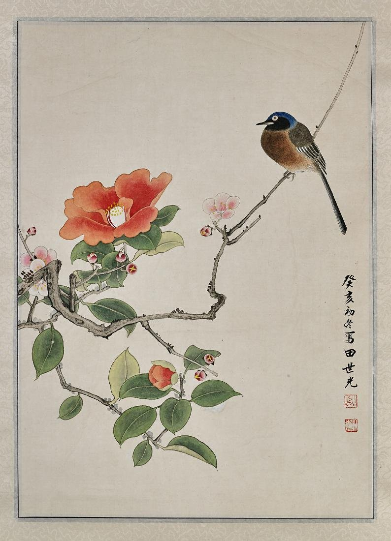 Two Chinese Scrolls: Birds & Flowers