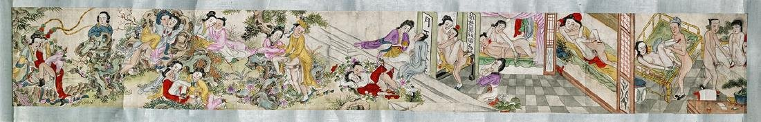 Old Chinese Handscroll: Erotic Scenes
