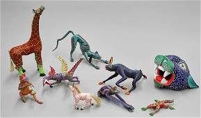 Group of Mexican Folk Art Animal Carvings