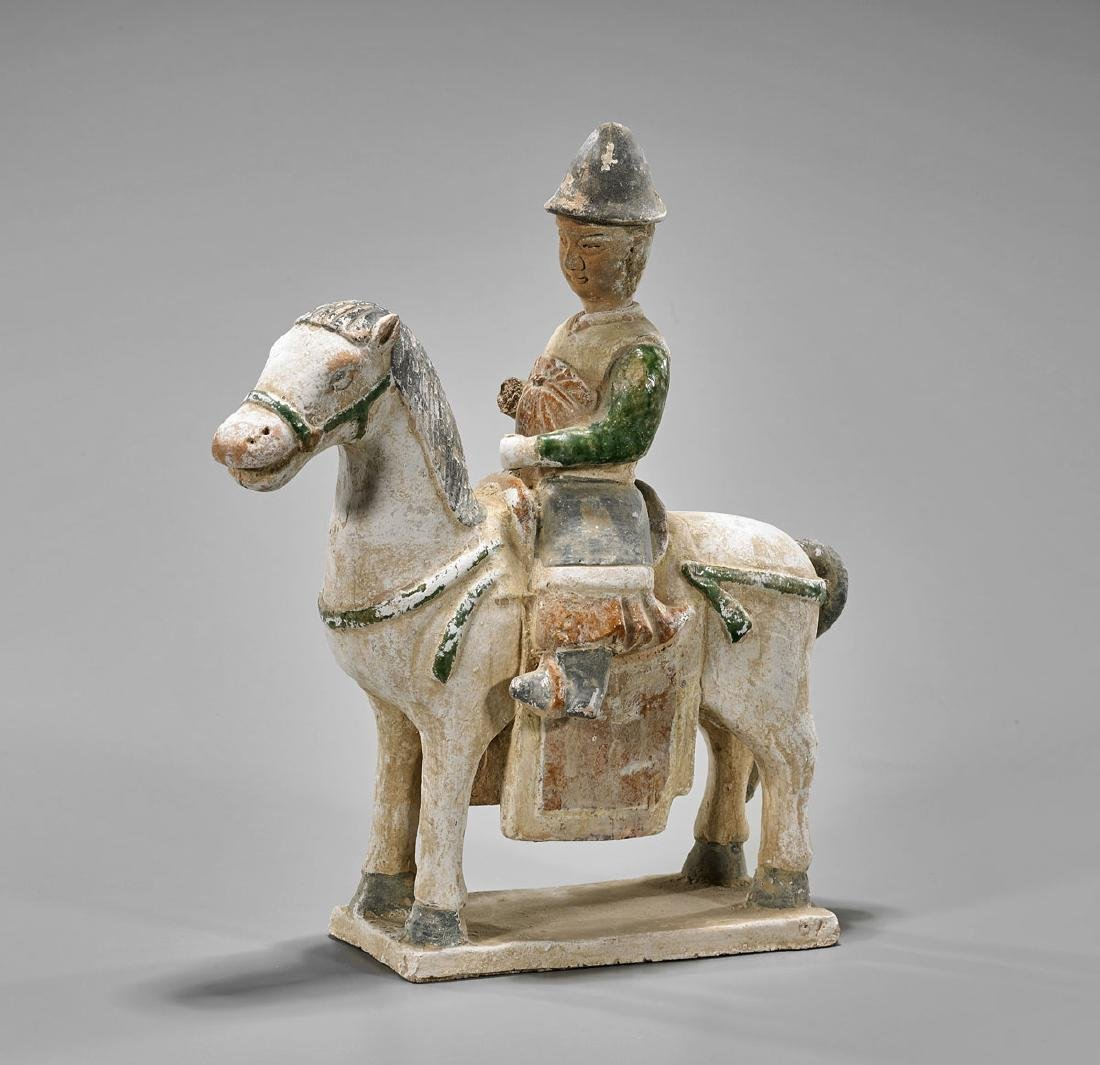 Old Chinese Pottery Equestrian