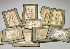 Collection of Chinese Embroidered Silk Panels