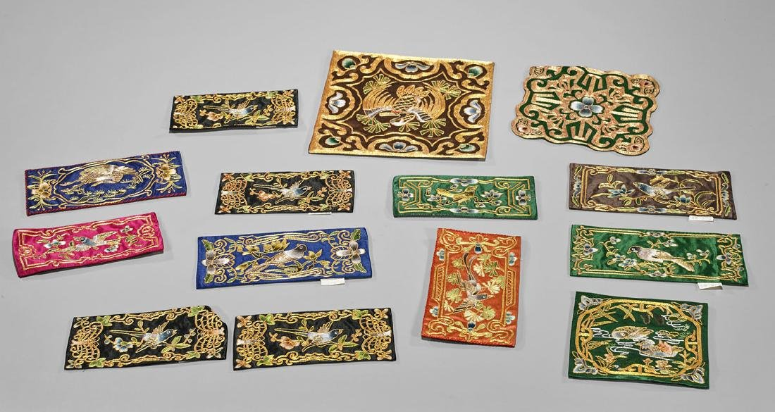 Group of Fourteen Chinese Embroideries