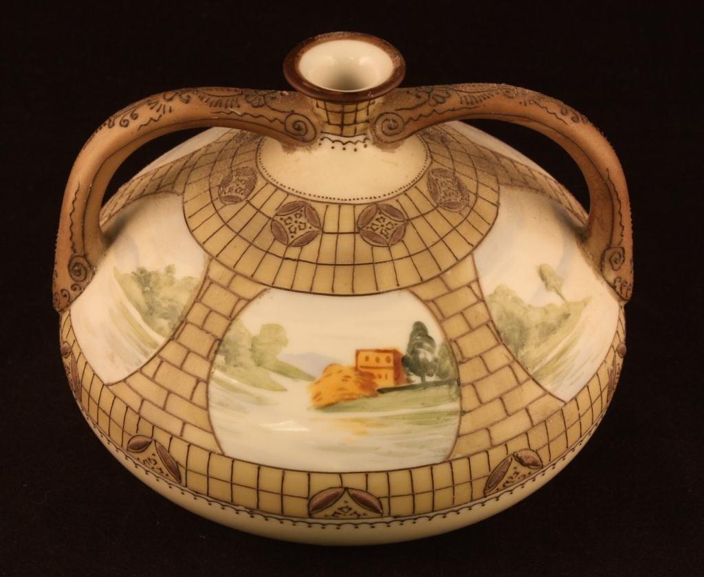 NIPPON Vase with Six Window Lake Scenes
