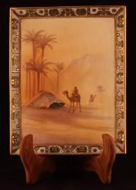 "NIPPON ""Man on Camel"" Desert Scene Wall Plaque"
