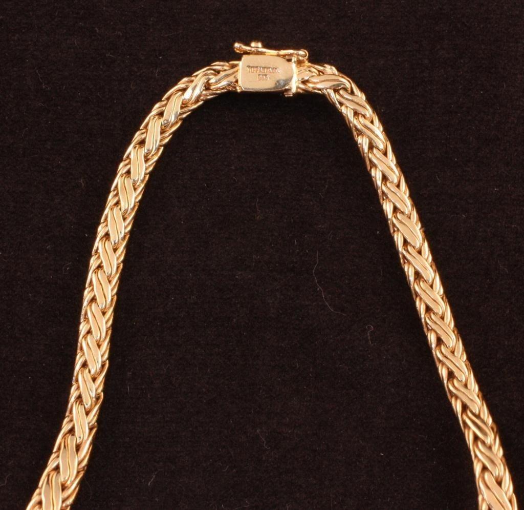 TIFFANY & CO 14k Gold Byzantine Necklace - 2