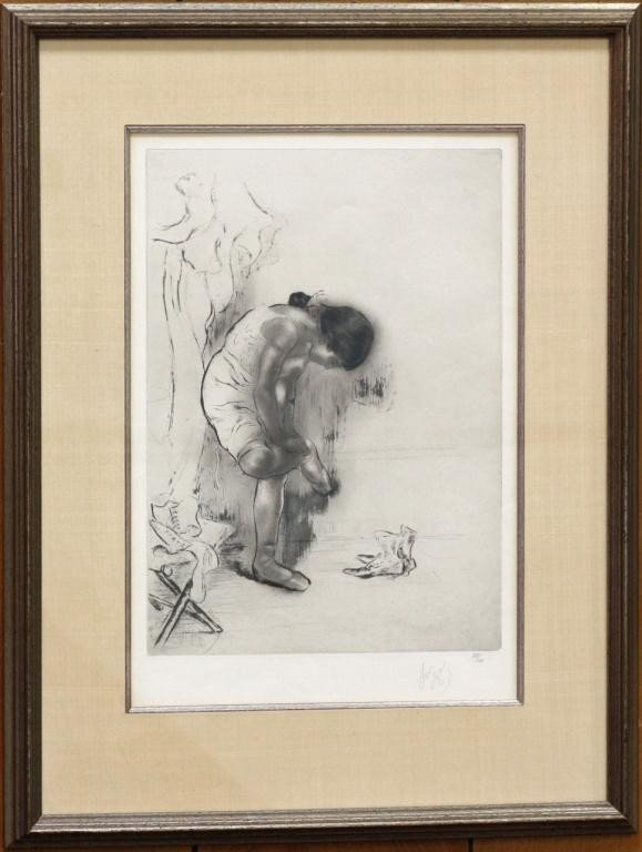 4: Black and White Etching by Louis Legrand