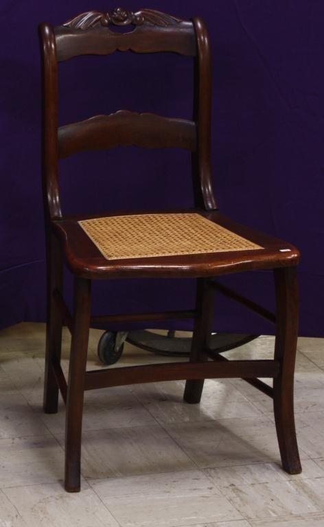 10H: Roseback Walnut Hoopskirt Chair