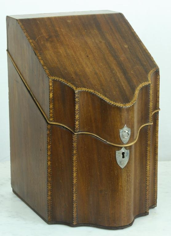 5: Early Mahogany Knife Box