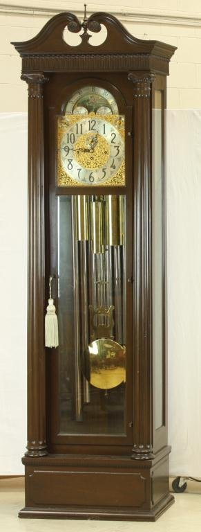 11: HERSCHEDE Tall Case Clock, 9 tube